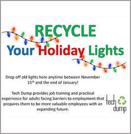 recycle your holiday lights flyer