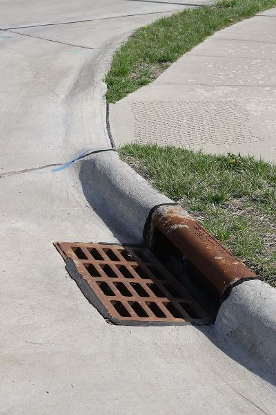 An ideal storm drain free of debris and litter.