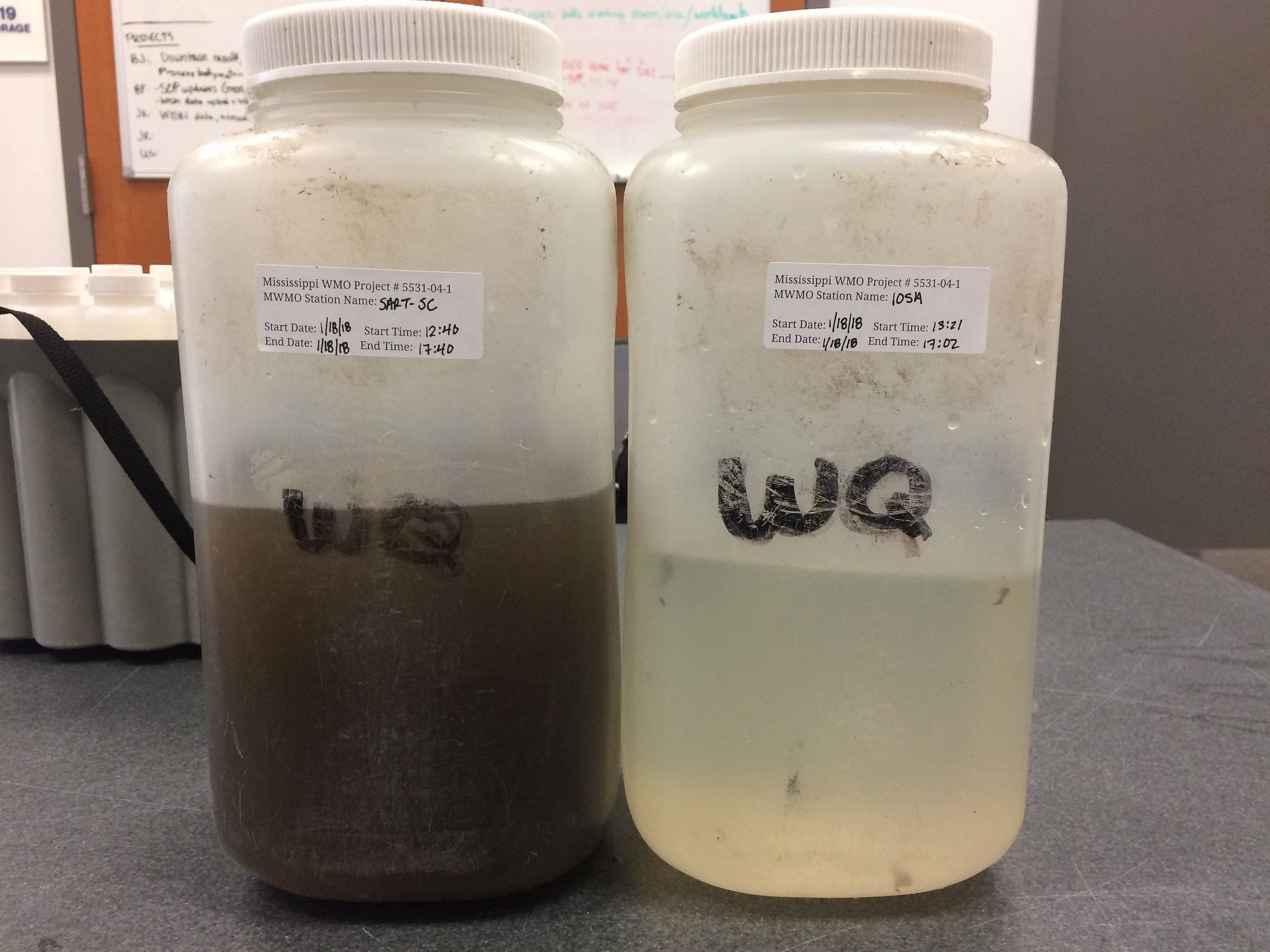 water sample from regional treatment facility Jan 2018