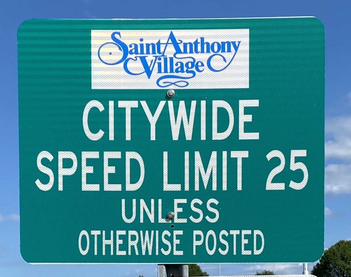 Speed Limit Gateway to city sign