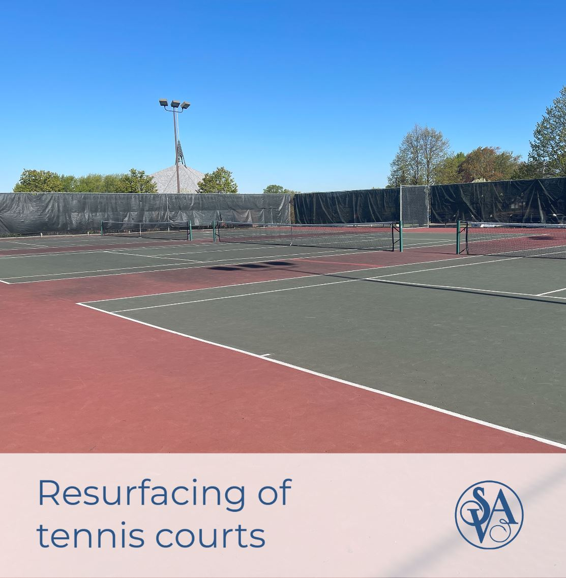 Resurfacing of tennis courts
